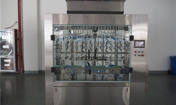 Автоматична машина за пълнене с течност под налягане с 12 глави