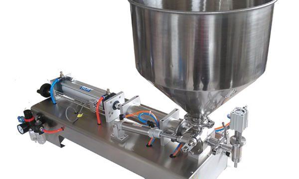 Полуавтоматична машина за пълнене на мед с бутално стъкло