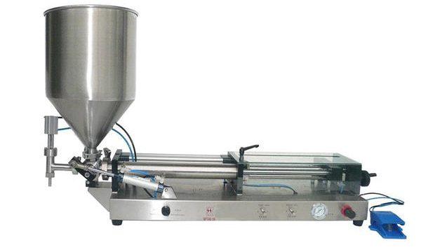Полуавтоматична машина за пълнене на кетчуп