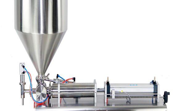 Полуавтоматична машина за пълнене с бутални буркани
