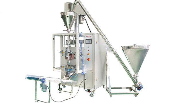 Вертикална автоматична машина за пълнене и запечатване на прах