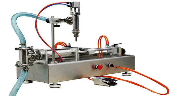 Пневматична машина за пълнене с двойни глави 100-1000мл