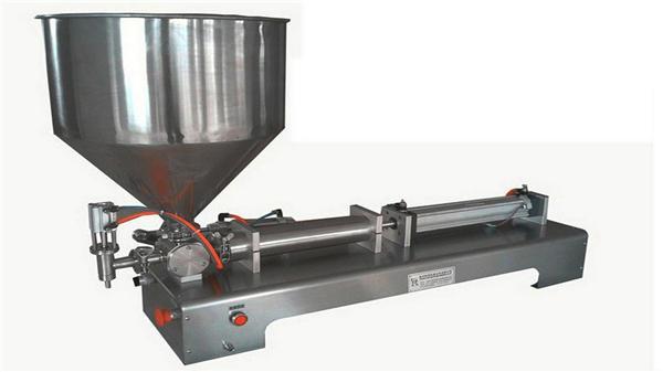 Полуавтоматична машина за пълнене с вертикална паста