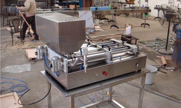 Полуавтоматична машина за пълнене на сос